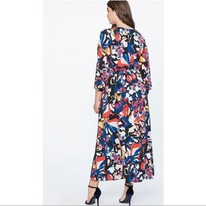 Eloquii Dresses - Eloquii Printed Wrap Maxi Dress